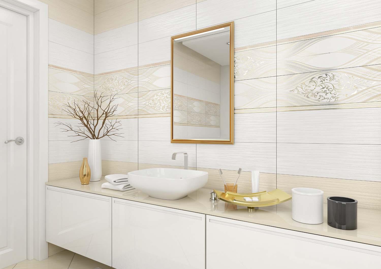 White ceramic bathroom tile